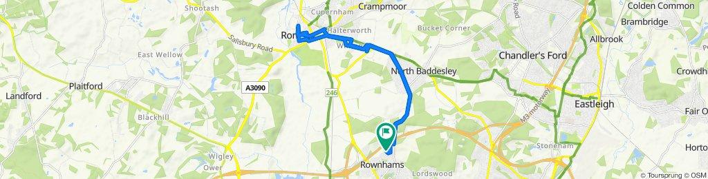 Colts Road, Southampton to 2 Armada Close, Southampton