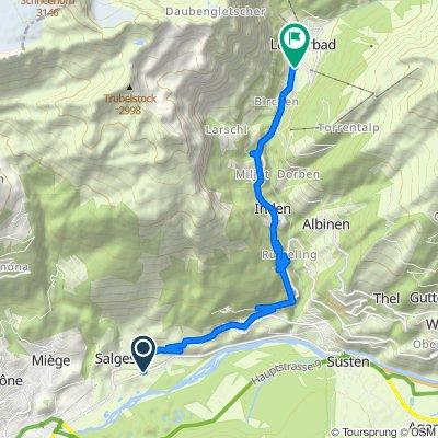 Itinéraire modéré en Leukerbad