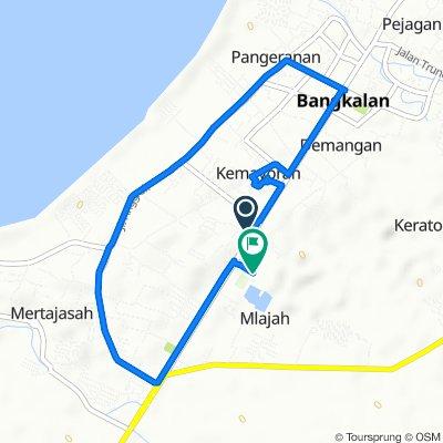 Jalan Teuku Umar Gang II 22, Kecamatan Bangkalan to Unnamed Road, Kecamatan Bangkalan