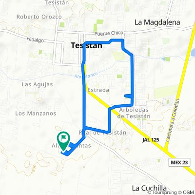 Steady ride in Tesistán