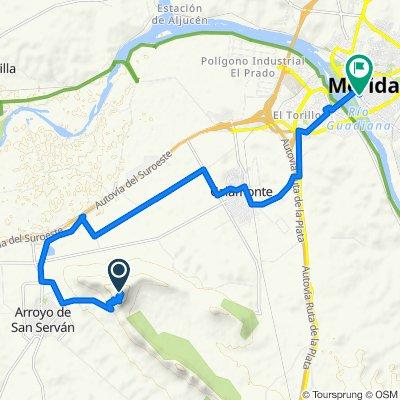 Mérida - Cima (antenas) Sierra Arroyo San Serván - Mérida