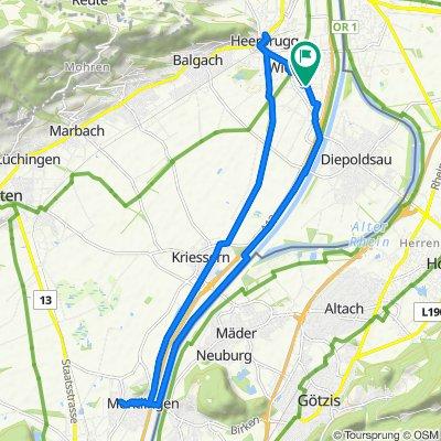 Widnau - Montlingen - Heerbrugg - Widnau
