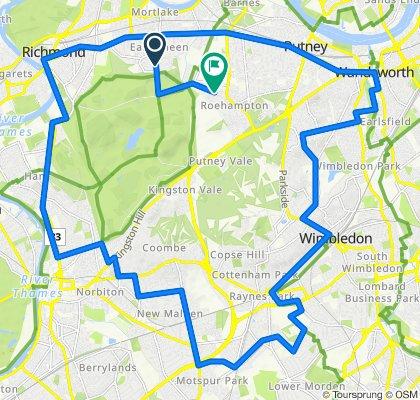 Richmond Wimbledon Route