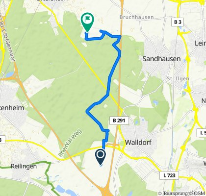 Entspannende Route in Oftersheim