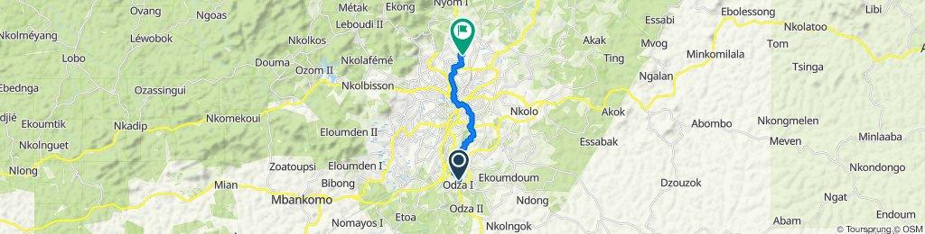 Route to Rue Lamido Rey Bouba, Yaounde