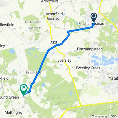 375 Finchampstead Road, Wokingham to Plough Lane, Hook