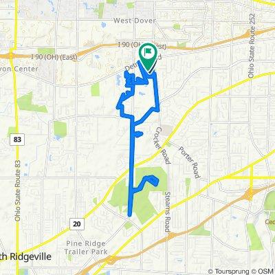 162 Main St, Westlake to 267 Crocker Park Blvd, Westlake