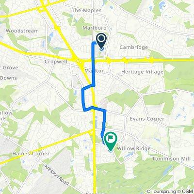 31 N Maple Ave, Marlton to 151 Stockton Ln, Marlton