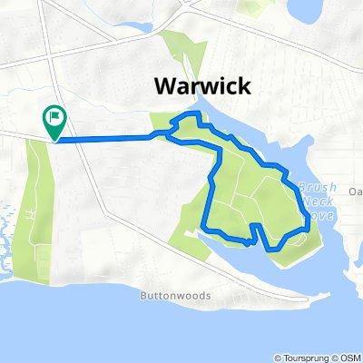 Steady ride in Warwick