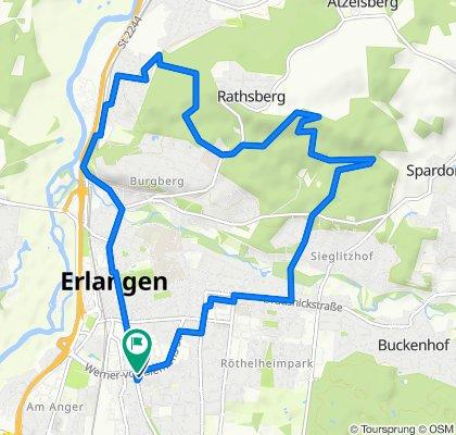 Bubenreuth - Rathsberg - Meilwald - gefahren