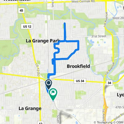 254–264 S Tilden Ave, La Grange to 315 Bluff Ave, La Grange