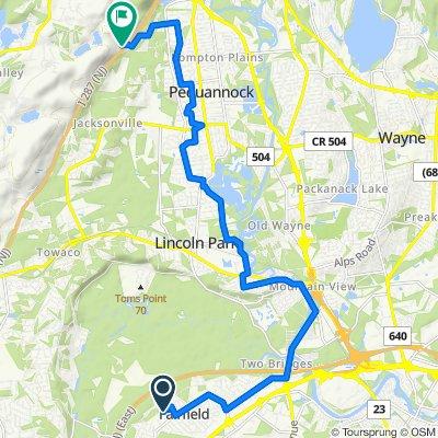 Moderate route in Kinnelon
