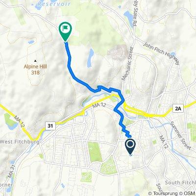 127 Warren St, Fitchburg to 518–686 Ashburnham Hill Rd, Fitchburg