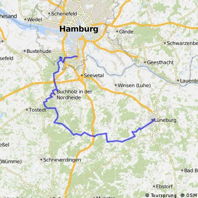 Harburg - Lüneburg mit Hügeln
