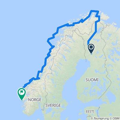 Rovaniemmi - North Cape- Bergen