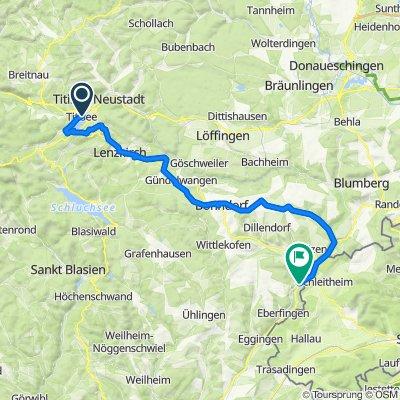 Bähnle Radweg bis Stühlingen