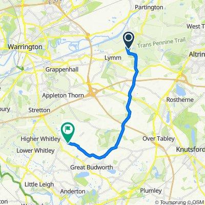 43 Springbank Gardens, Lymm to Church Cottage, Knutsford Road, Northwich