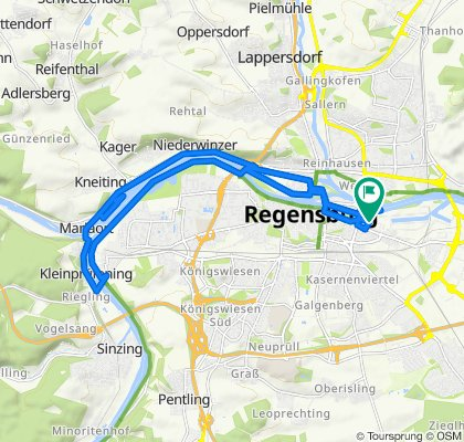 Einfache Fahrt in Regensburg