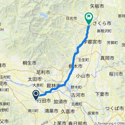 1-chōme, Kumagaya to 宇都宮市