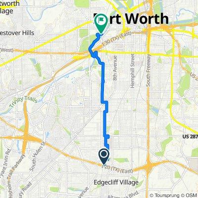 5328 Wayside Ave, Fort Worth to Cedar Elm Rd, Fort Worth