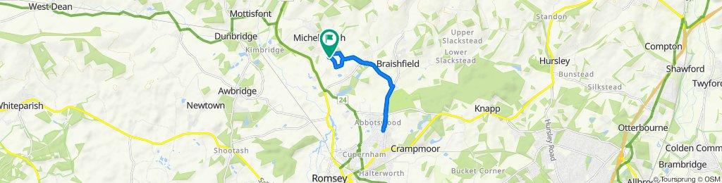 Restful route in Romsey