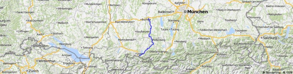 4-Romantische Straße, Würzburg - Füssen, Teil 4 CLONED FROM ROUTE 183656