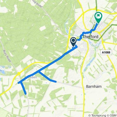 Caxton Way, Thetford to 20 Woodlands Drive, Thetford