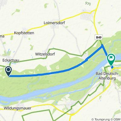 Langsame Fahrt in Hainburg an der Donau