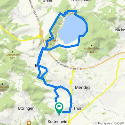 Restful route in Kottenheim
