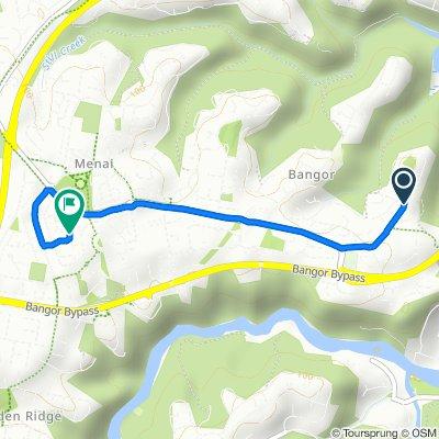 69 Yates Road, Bangor to 8 Carrol Court, Menai