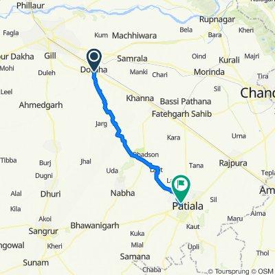 Jammu - Delhi Road, Doraha to State Bank Of Patiala