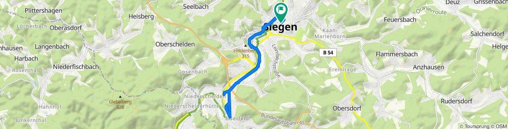 Entspannende Route in Siegen