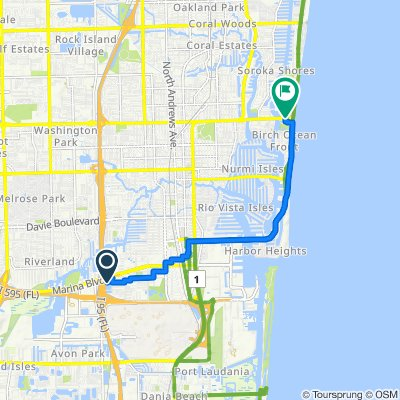 Southwest 19th Terrace 2990, Fort Lauderdale to East Sunrise Boulevard 3013, Fort Lauderdale