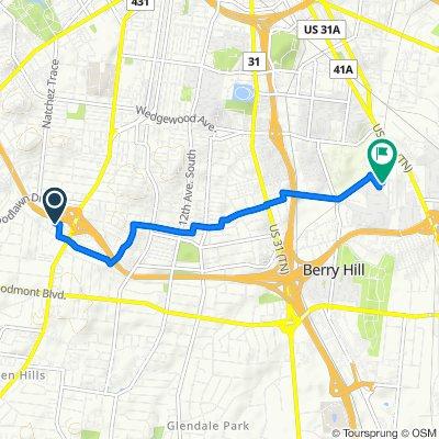 2717 Sharondale Ct, Nashville to 2100 Dunn Ave, Nashville