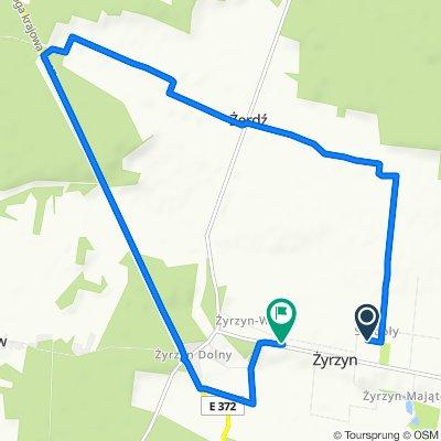Spokojna trasa do Żyrzyn