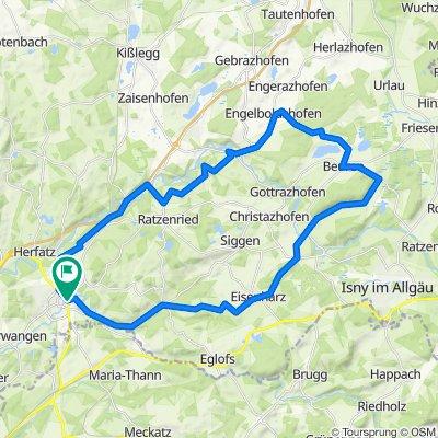 Wangen - Eisenharz - Beuren - Ratzenried - Wangen