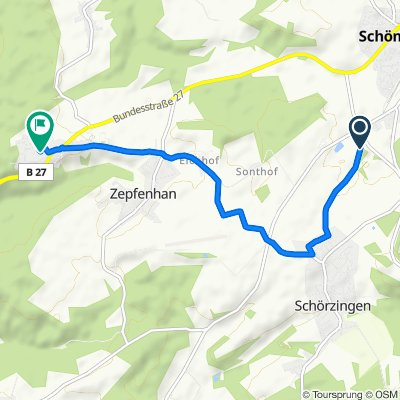 Entspannende Route in Rottweil