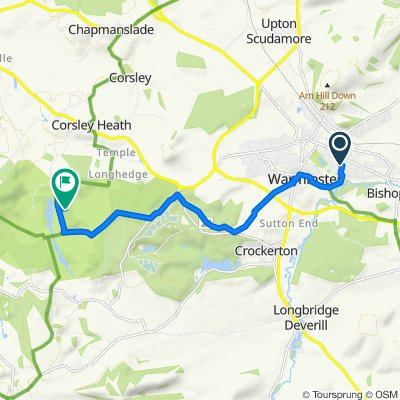 Route from 46 Gipsy Lane, Warminster