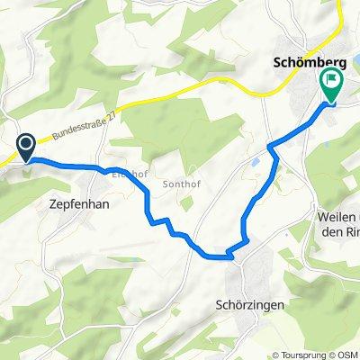 Einfache Fahrt in Schömberg
