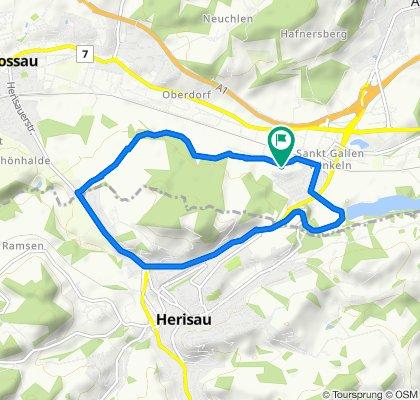 Letzistrasse 25, St. Gallen to Letzistrasse 25, St. Gallen