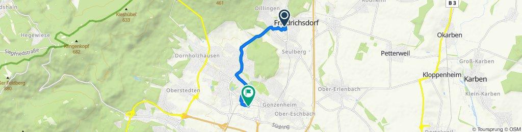 Rohrwiesenstraße 4, Friedrichsdorf to Horexstraße 10, Bad Homburg vor der Höhe