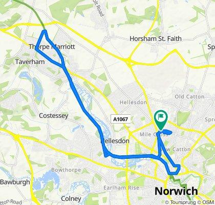 3 Gateley Gardens, Norwich to 1 Gateley Gardens, Norwich