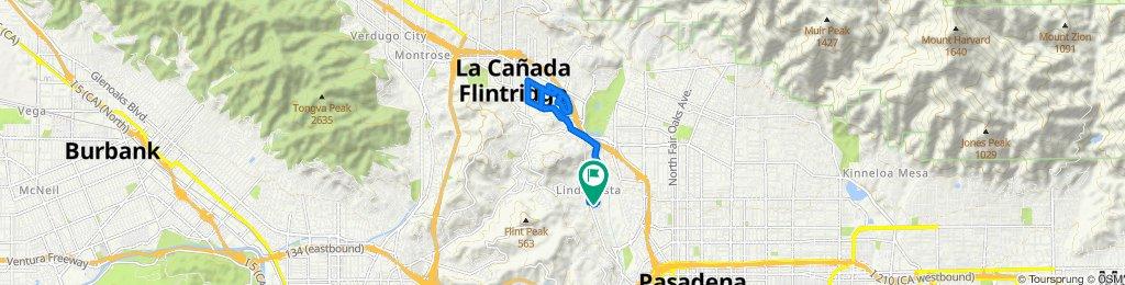 1160 Afton St, Pasadena to 1160 Afton St, Pasadena