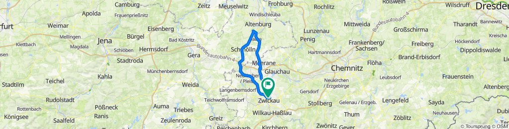 Zwickau-Schmölln-Crimmitschau-Zwickau Runde