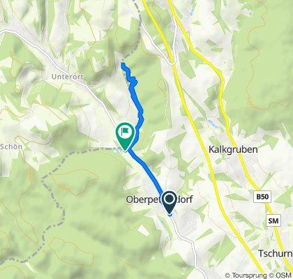Einfache Fahrt in Oberpetersdorf