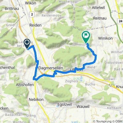 Langsame Fahrt in Langnau b. Reiden