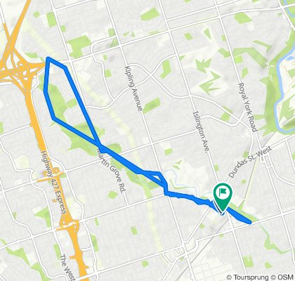 Cordova Ave At Mabelle Ave, Toronto to Central Park Roadway 1276, Toronto