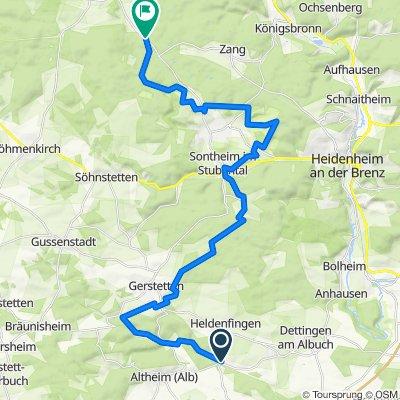 Etappe 4 Albschäferweg, Gerstetten-Wental 36km 680hm