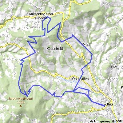 8. MTB-Marathon Naturpark Pöllau, Strecke B (38km)