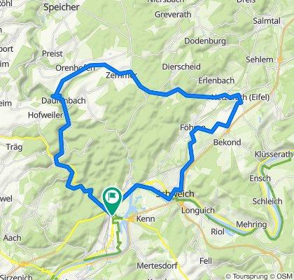 Ehrang-Kordel-Quint-Hetzerath-Schweich-Ehrang